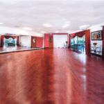 LaVida's indoor dance studio with a salsa theme